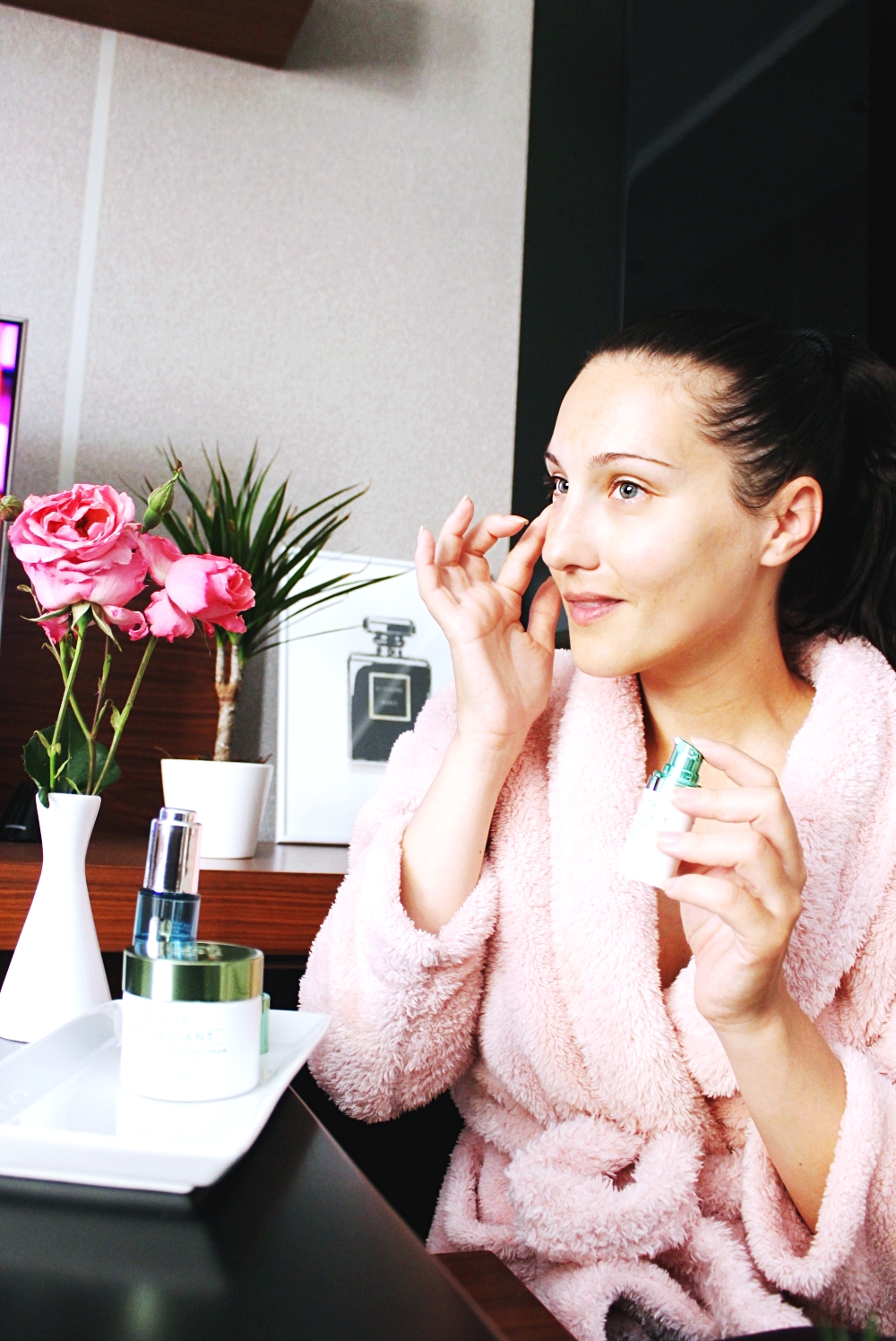 glowy healthy skin morning skincare routine, jutarnja rutina nege koze