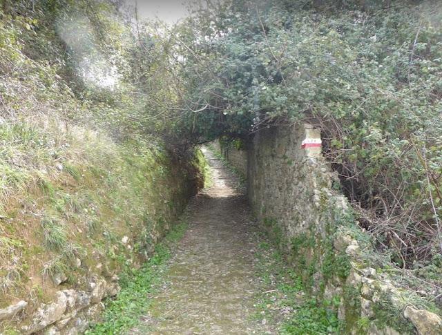 tratto del sentiero 521 alla Spezia
