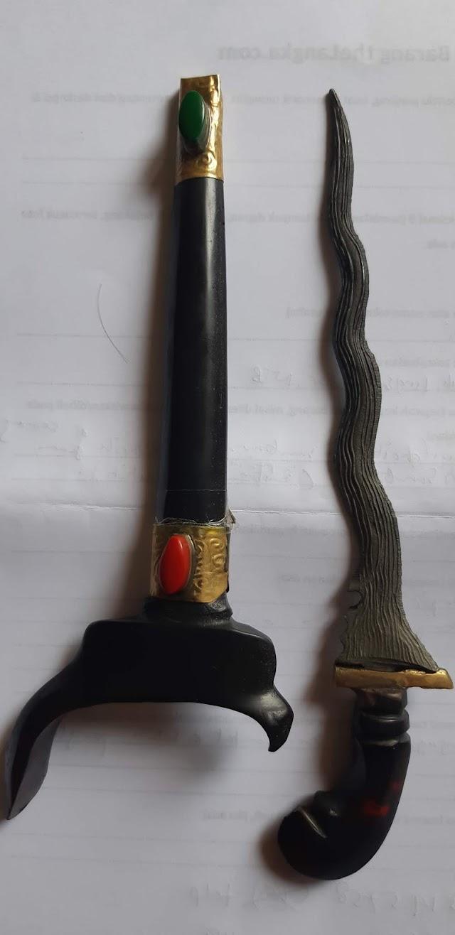 [Dijual] Keris antik dari Sumbawa (namanya tidak diketahui/tidak dinamai), unik & bertuah