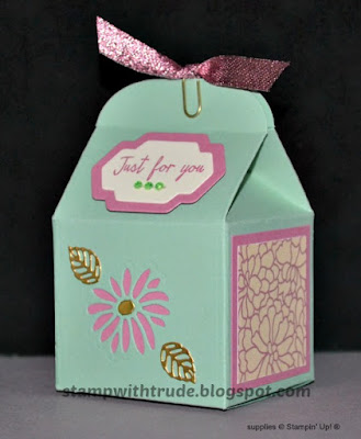 Baker's Box, Stampin' Up!, Stamp with Trude, Tuesday Tutorial, Stylish Stems, Watercolor Wonder
