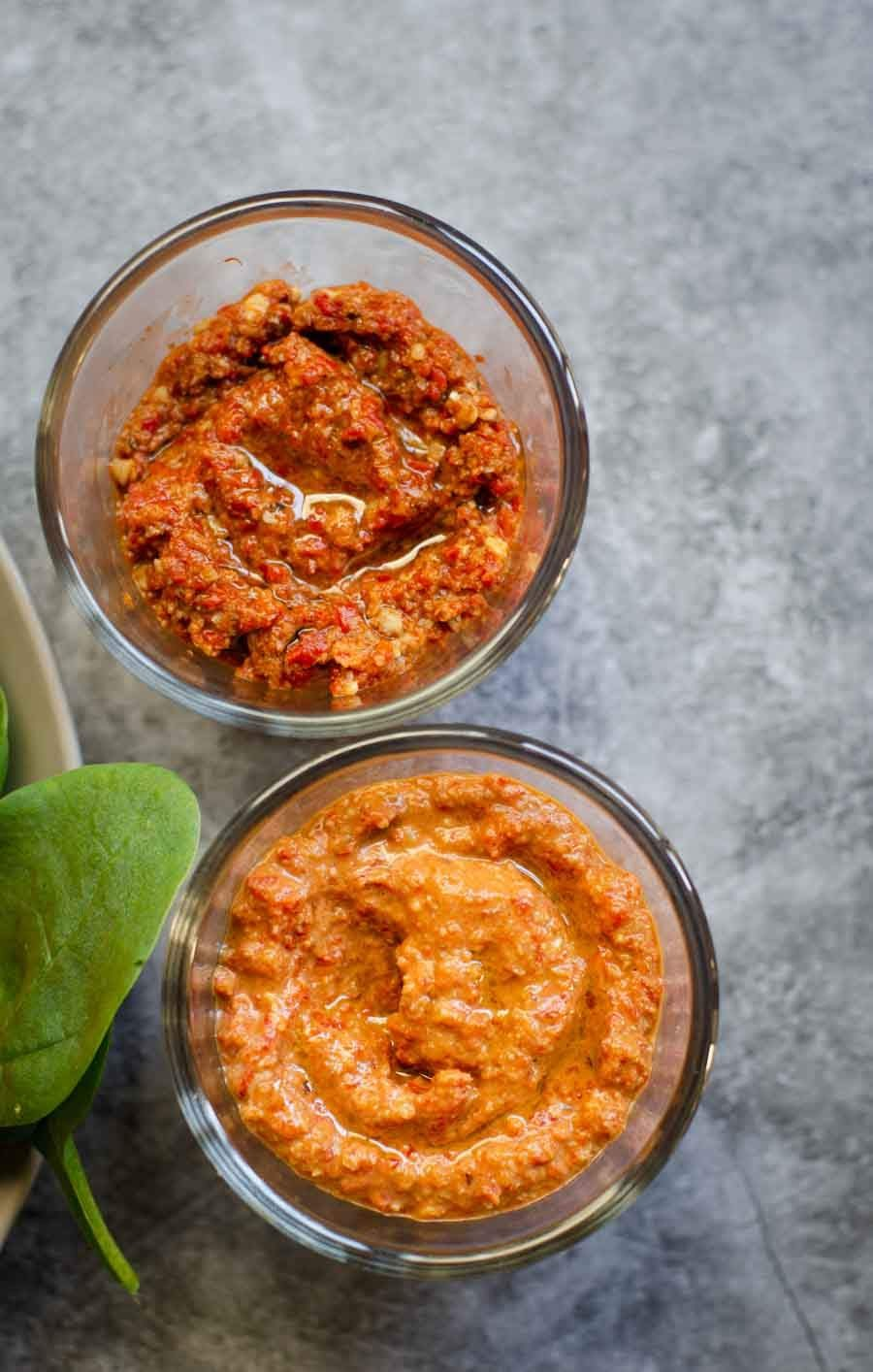 two types of Muhammara