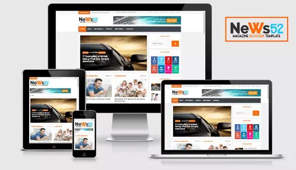 News52 Responsive Blogger Template Free Premium