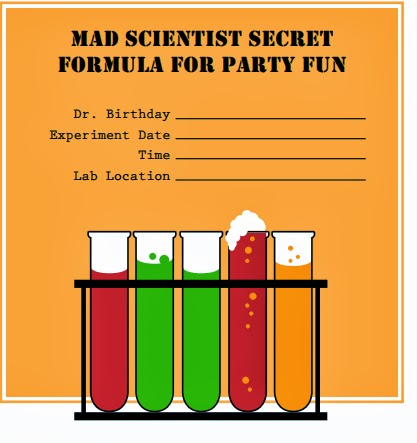 the best printable science party invitations fun science uk