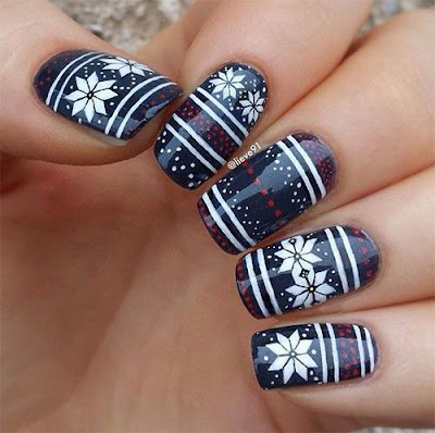 Sweater Nail Art Pattern