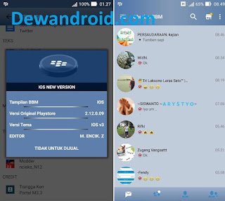 Download BBM Mod iPhone New Style for Android Base v3.3.1.24 (iBBM)