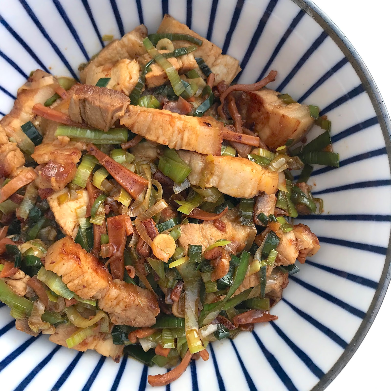 hakka-style-pork-dried-squid-and-leek-stir-fry