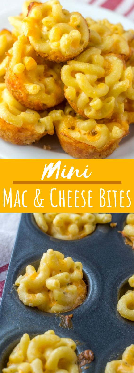 Mini Macaroni and Cheese Bites #appetizers #snacks
