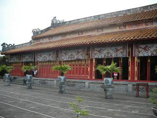 Hung Mieu Temple. Citadel of Hue (Vietnam)