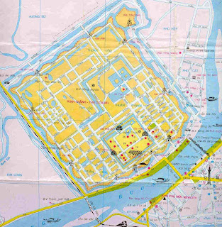 Mapa turístico de Hue (Vietnam)