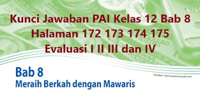 Kunci-Jawaban-PAI-Kelas-12-Bab-8-Halaman-172-173-174-175-Evaluasi-I-II-III-IV