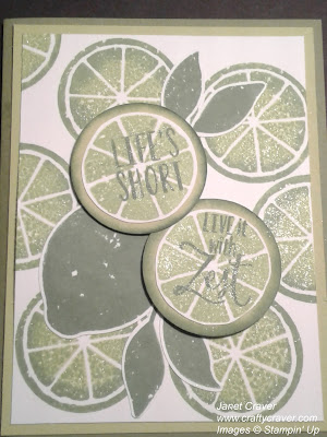Lemon Zest, Lemon Builder, Lemon Lime Twist, Stampin Up
