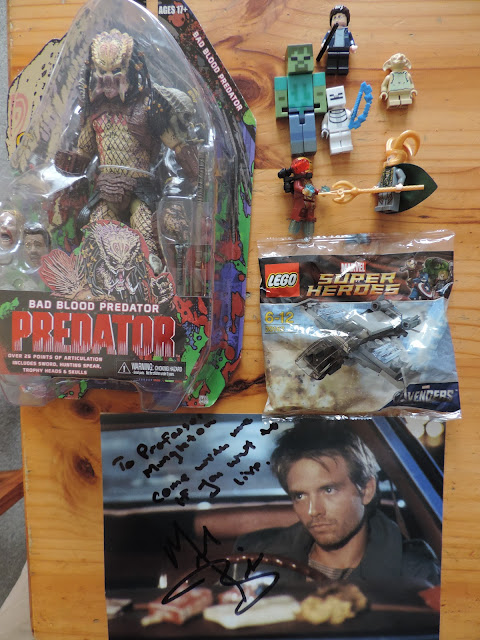 lego and minecraft minifigures predator michael biehn signed photo