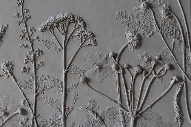 Rachel Dein, Tactile Studio, Plaster Tile, Plaster Cast, Botanical Art
