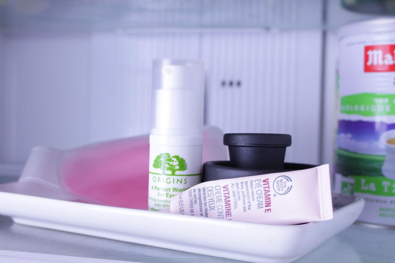 Quels cosmétiques vous trouverez dans mon frigo?