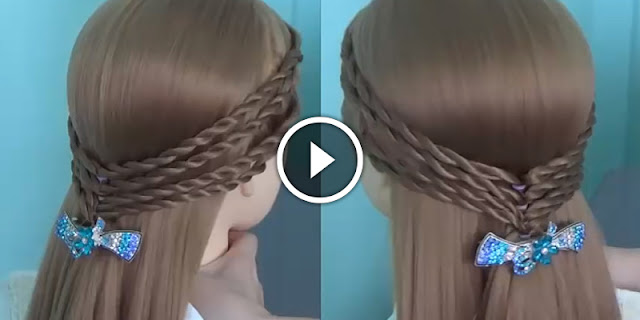 Learn - How To Make 4 Braids Hairstyle, See Tutoria
