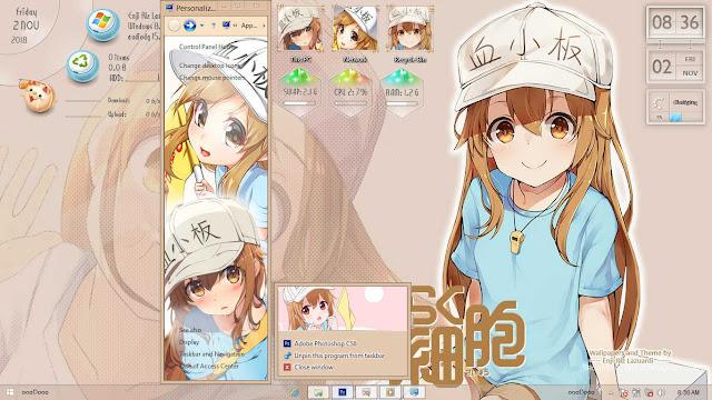 Windows 8/8.1 Theme Hataraku Saibou by Enji Riz Lazuardi
