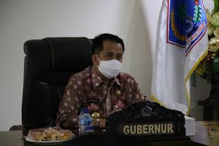 Pjs. Gubernur Ikut Rakor Persiapan Pengadaan Vaksin Untuk Penanggulangan Pandemi Covid - 19