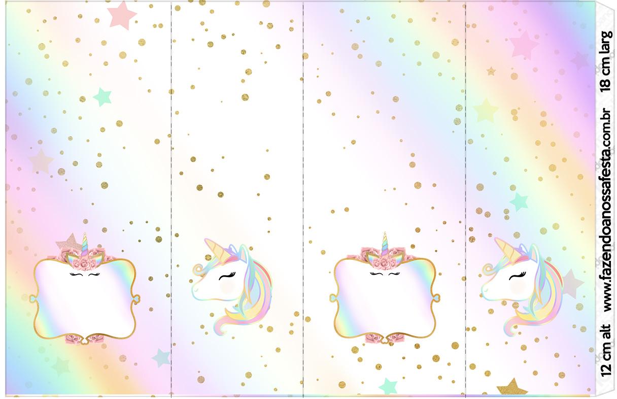 Unicornio Y Arco Iris Etiquetas Para Candy Bar Para