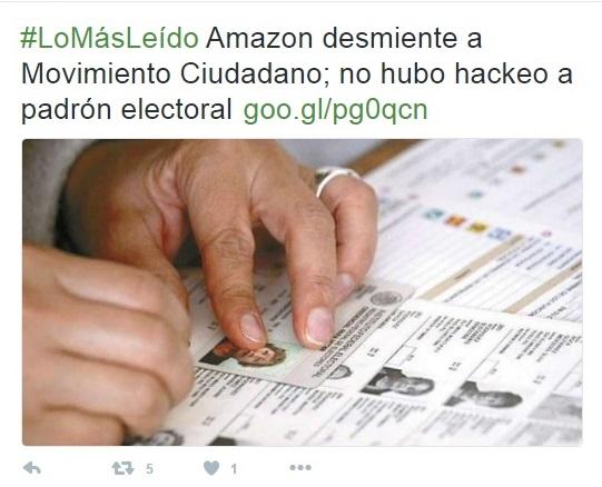 """Amazón afirma que Dante Delgado """"está mal informado o está mintiendo"""""""