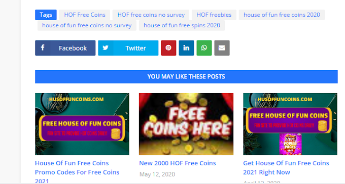 Best 4 Ways To Get Free House Of Fun Coins In 2021