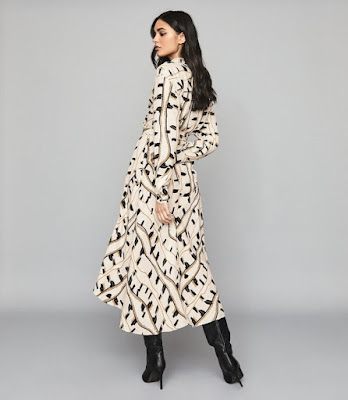 SkyPrinted Maxi dress by Reiss