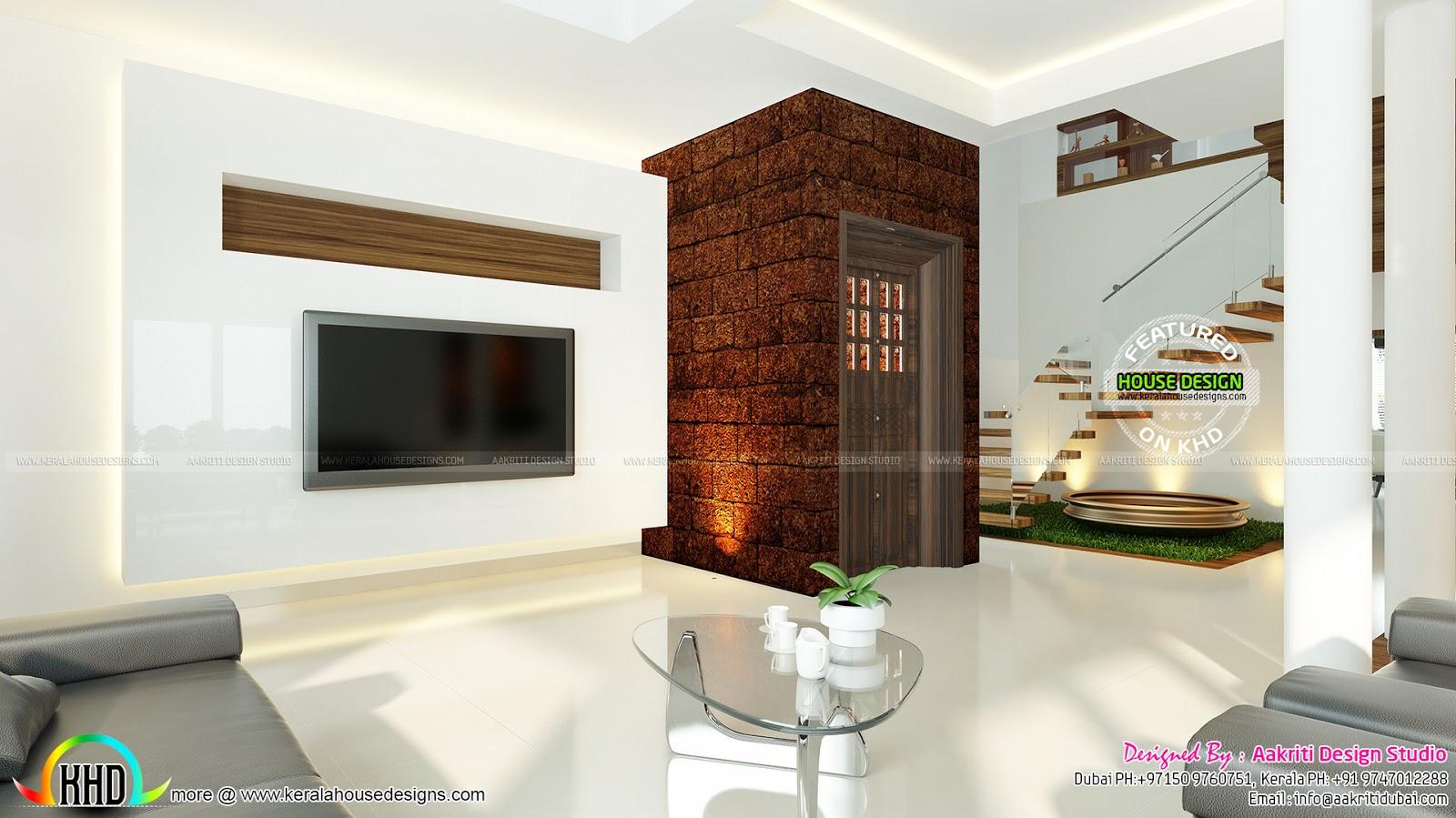 Modern interior designs kerala home design and floor plans - Modern interior wall design ideas ...