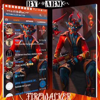 Firewalker Theme For YOWhatsApp & Fouad WhatsApp By ALBERTO
