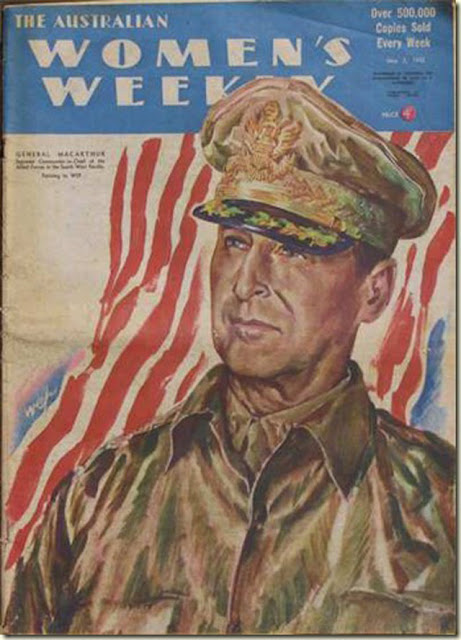 MacArthur on cover of Women's Weekly 2 May 1942 worldwartwo.filminspector.com