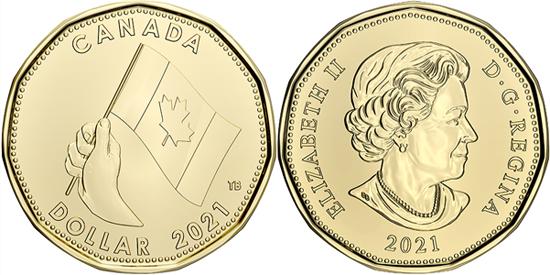 Canada 1 dollar 2021 - O Canada