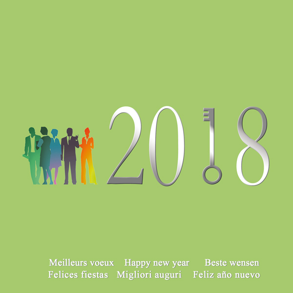 Fabuleux Le blog de Graphic'Arts: Cartes de voeux 2018 Equipe, Partenariat LG74