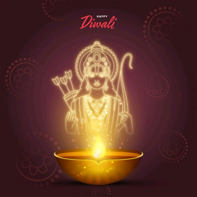happy diwali images with ram