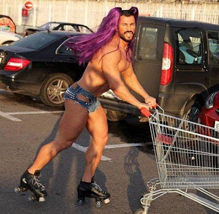 Meanwhile at Walmart Gay Man Roller