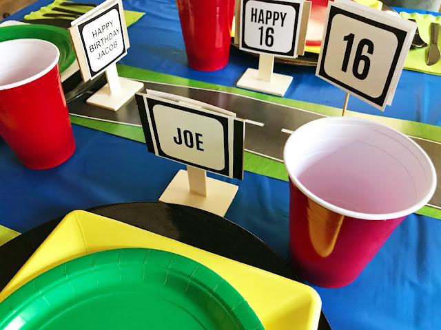 16th Driving Birthday party @michellepaigeblogs.com