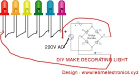 DIY decorator two flasher LED Projects making - With Circuit Diagram