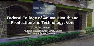 FCAHPT Vom (Affiliated to ATBU Bauchi) Degree Form 2020/2021