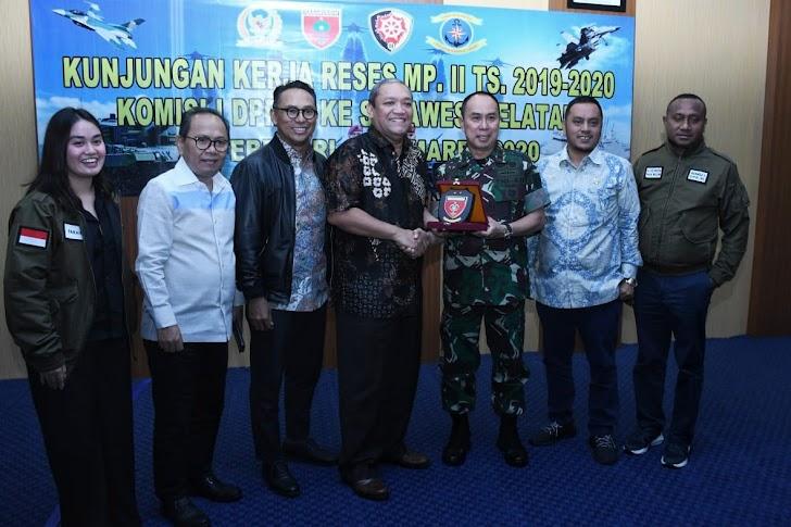 Masa Reses Komisi I DPR RI Lakukan Kunjungan Kerja ke Lingkup TNI di Wilayah Makassar