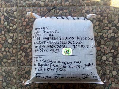 Benih pesanan AGUS SISWANTO Wonogiri, Jateng.   (Setelah Packing)