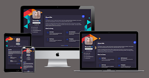 Profile Page Responsive Blogger Template - Responsive Blogger Template