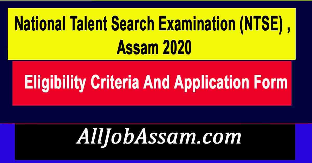 NTSE Assam 2020