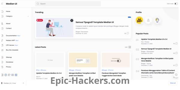 MEDIUM UI Premium Template/Theme Free Download