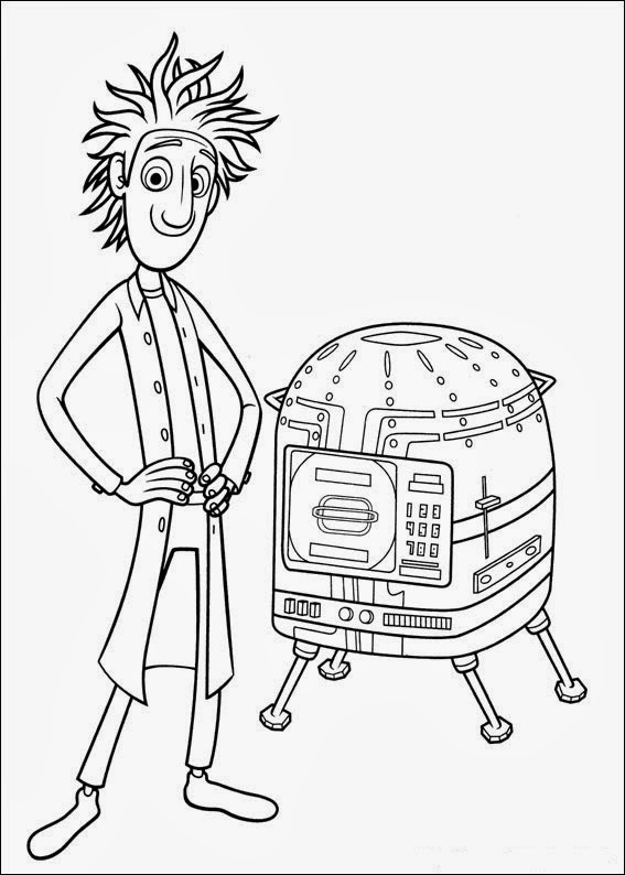 Fun Coloring Pages Cloudy With A Chance Of Meatballs