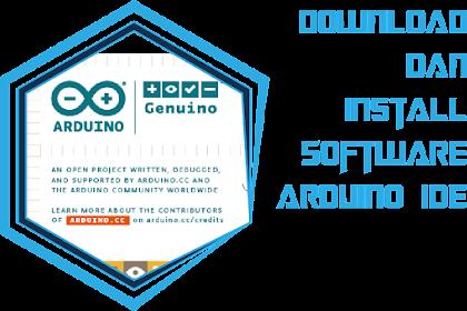 download dan install software arduino IDE