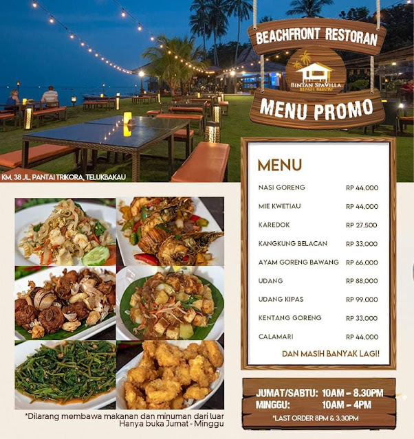 Menu di Bintan Spa Villa