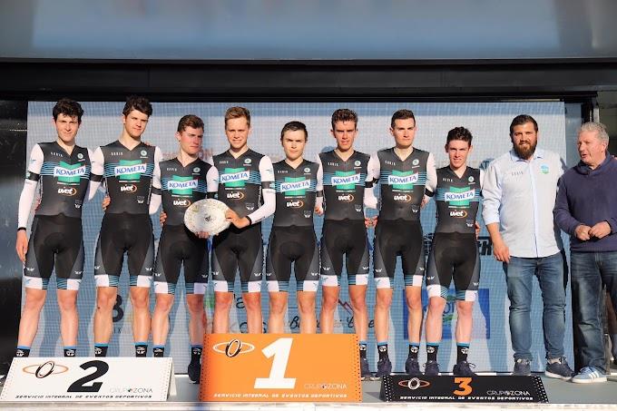 El Kometa Cycling Team junior prolonga su dominio en la crono por equipos en el Trofeo Víctor Cabedo