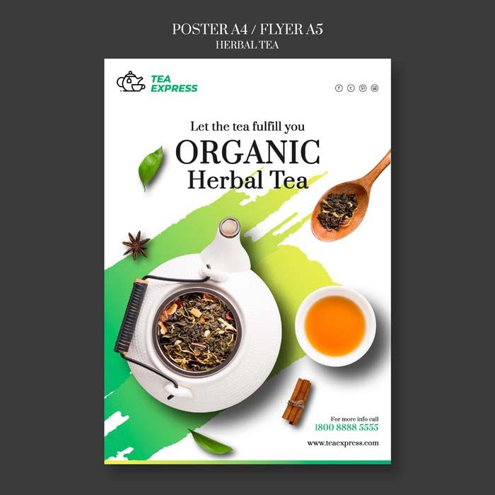Herbal Tea Poster Design