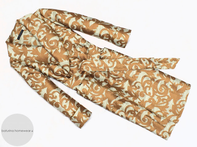mens gold paisley dressing gown long cotton robe smoking jacket gentleman vintage luxury