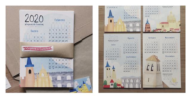 Calendario Segovia de Cuento - Maria Albarran Ilustracion