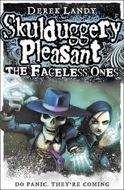 aa8ac6abdc41 We just received the third Skulduggery Pleasant book
