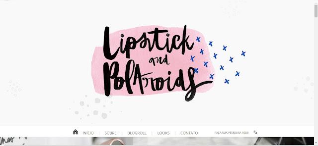 Layout: Lipstick and Polaroids