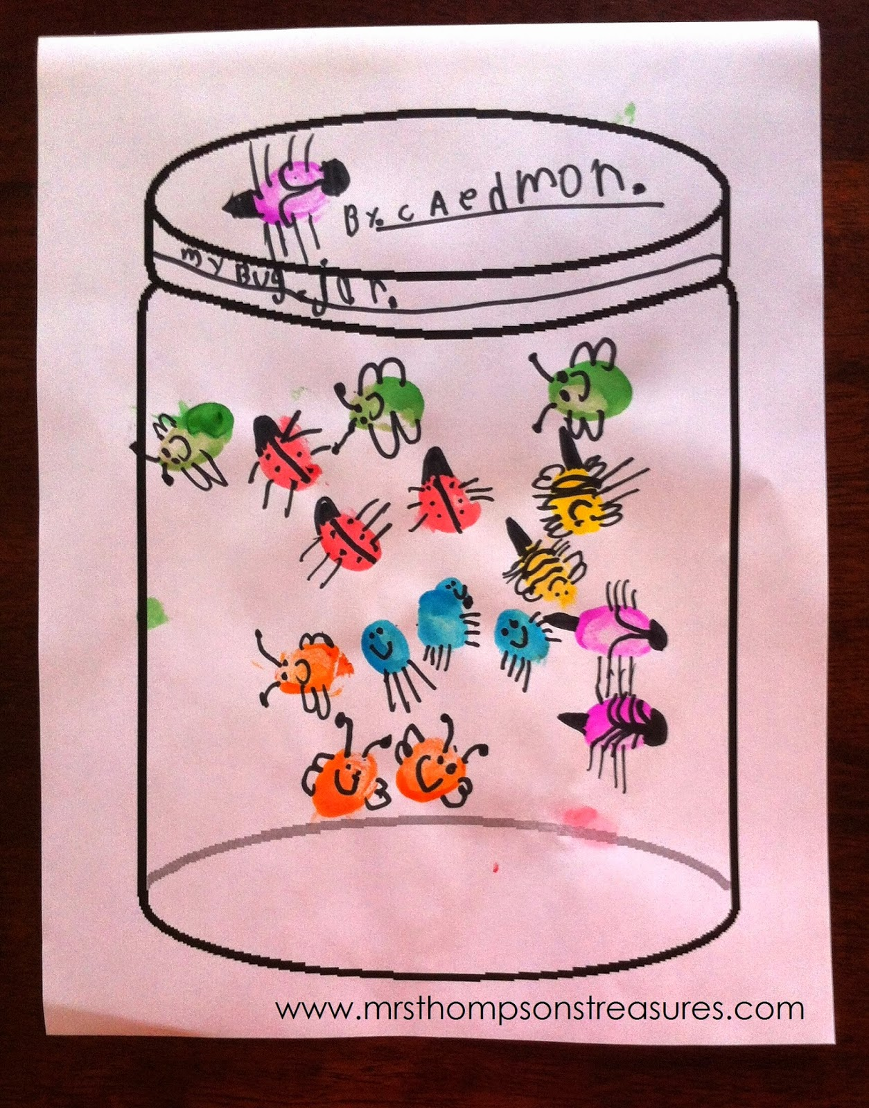 Mrs Thompson S Treasures Fingerprint Bug Jars